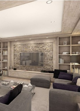 16 Amazing Living Room With Stone Wall Design Ideas 05 1