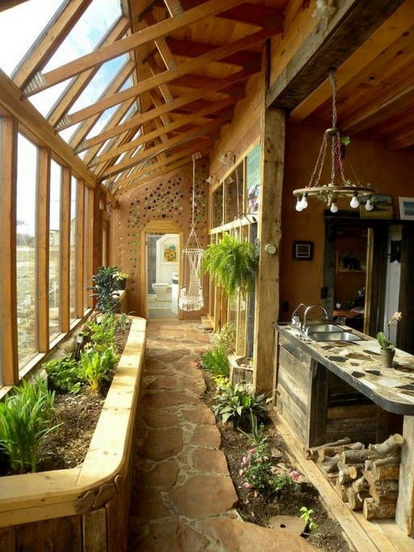 17 Amazing Greenhouse Earthship Home Design Made Of Recycled 02