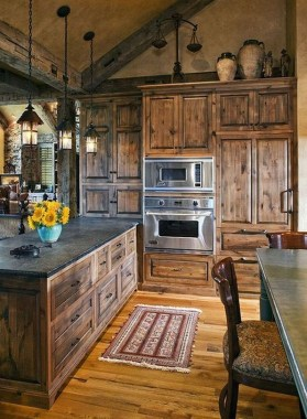 17 Stylish Rustic Kitchen Cabinet Design Ideas 06