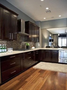 19 Cool Kitchen Color Scheme Ideas For Dark Cabinets 14