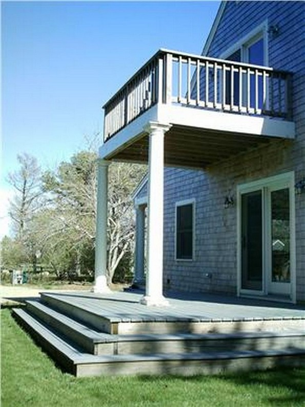 Second Floor Deck With Screened In Porch Design And Stairs 17