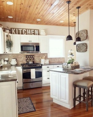 16 Amazing Modern Farmhouse Kitchen Design Ideas To Blend Modern And Classic Theme 04
