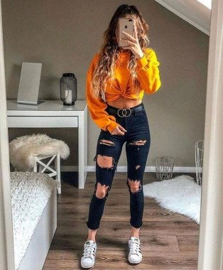 19 Catchy School Outfit Ideas For Teen Girl In 2019 08