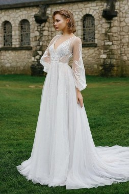 19 Unique Sleeve Wedding Dress Trends Ideas For 2019 03