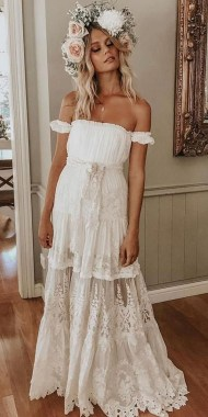 21 Charming Boho Chic Wedding Dresses Ideas 13