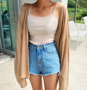 21 Cozy Summer Women Fashion Ideas With Cardigan You Need Try 16