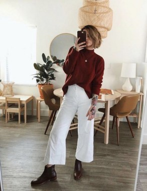 17 Incredible Flared Jeans Fall Winter Outfits Ideas 04
