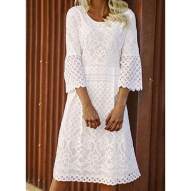 18 Attractive Lace Shift Dress Outfit Ideas For Spring 01