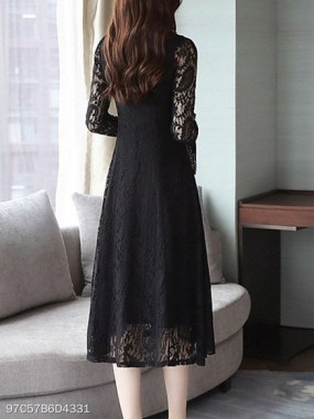 18 Attractive Lace Shift Dress Outfit Ideas For Spring 09