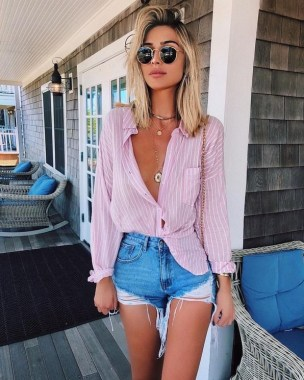 18 Cute Denim Short Ideas For Summer To Wear Right Now 08