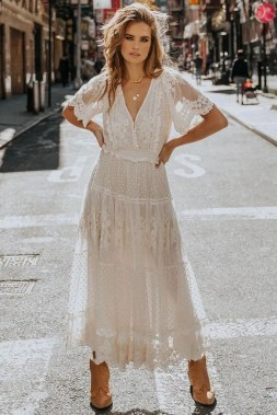 19 Amazing White Lace Outfits Ideas 04