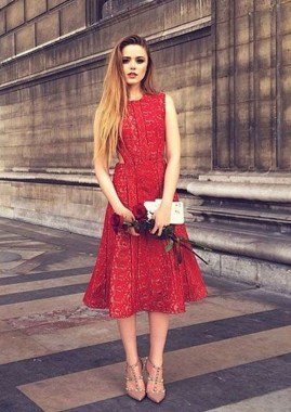 19 Cozy Red Dresses Ideas For Valentine'S Day 16 2