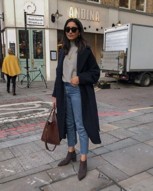 20 Trending Crop Jeans Winter Outfits Ideas 17
