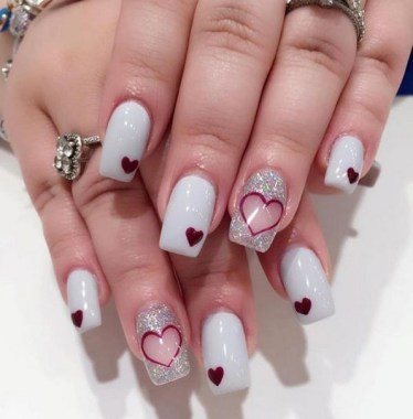 28 Free Valentine's Day Nail Ideas That We Are Not Tacky 2019 18