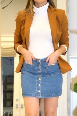23 How To Wear Denim For Casual Thanksgiving Outfits 24