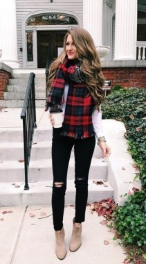 23 Ways To Wear Scarf For Thanksgiving And Christmas 03