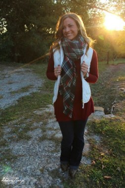23 Ways To Wear Scarf For Thanksgiving And Christmas 07