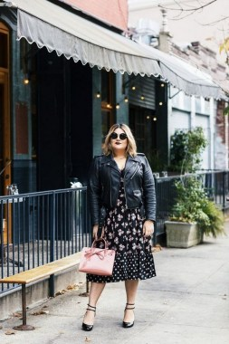 26 Awesome Dark Colour Outfit Ideas For Curvy Women 30
