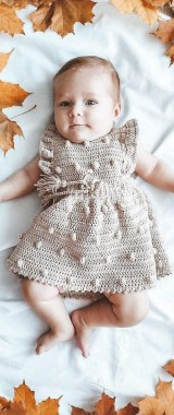 26 Free Precious Crochet Newborn Dress Patterns 23