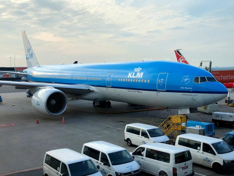Avion de KLM a China