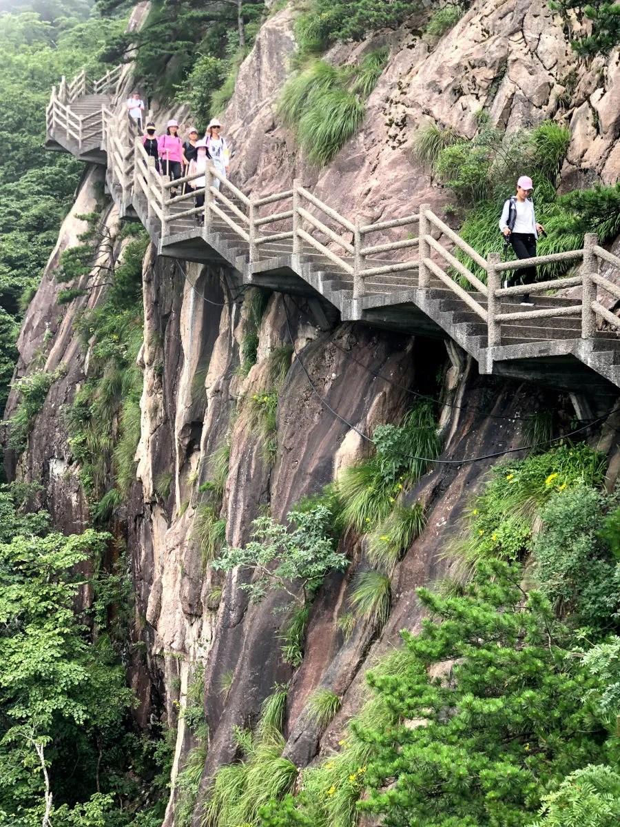 Escaleras de la Montaña Amarilla, Huangshan en China