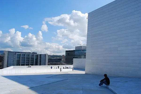 A la sombra de la ópera de Oslo