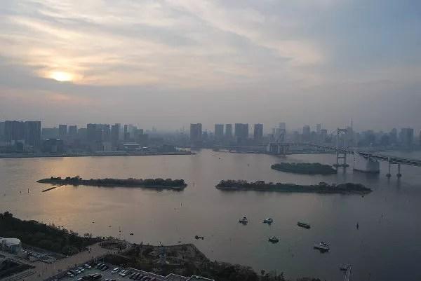 Bahía de Tokyo desde el Fuji TV Building