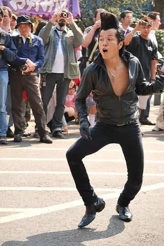Baile rockabilly en el parque Yoyogi de Tokio