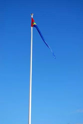 Bandera sami en Nikkaluokta