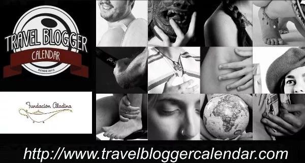 Calendario solidario de bloggers de viajes desnudos