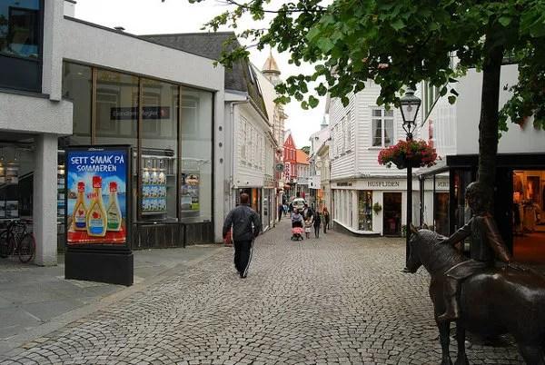 Calles empedradas de Stavanger