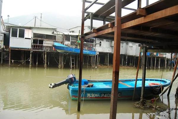 Canales y casas flotantes de Tai O