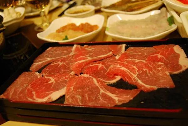 Carne para el Hot pot