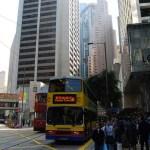 Cruce de Pedder St en la isla de Hong Kong