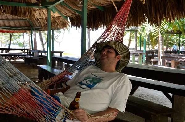 De relax en la Playa Cristal del PNN Tayrona