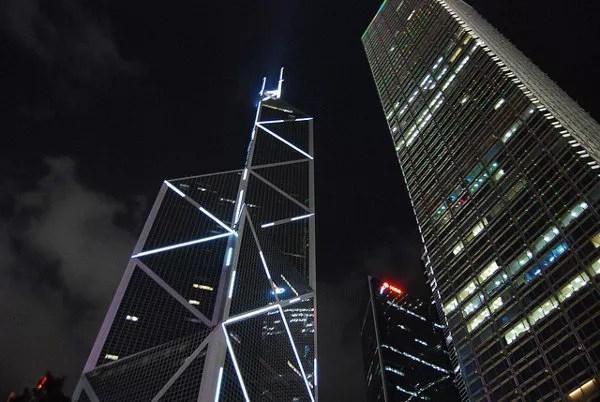 El Bank of China Tower de noche