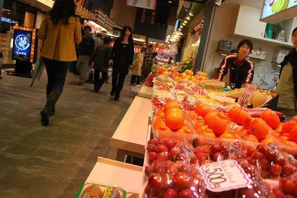 El mercado de Omicho de Kanazawa