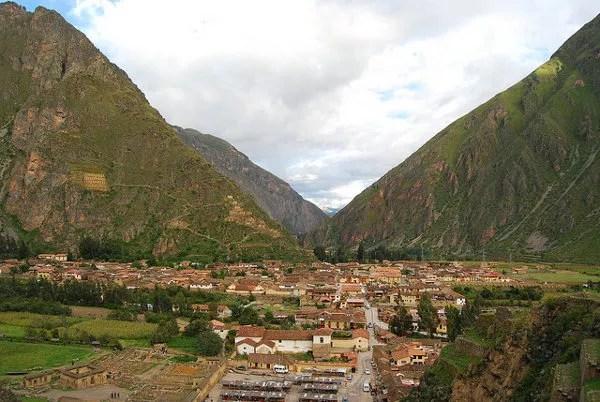 El valle desde Ollantaytambo