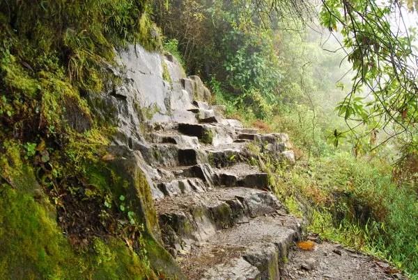 Escaleras de subida al Huayna Picchu