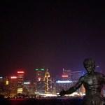 Estatua de Bruce Lee en Hong Kong