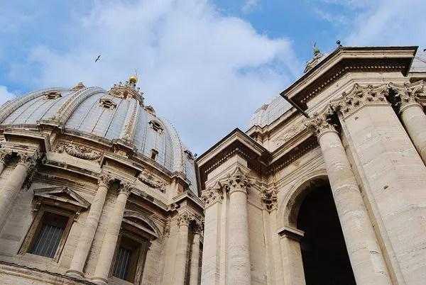 Exterior de la cúpula de la Basílica de San Pedro