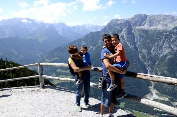 Fotos Austria con niños, Vero, Oriol, Teo y Pau
