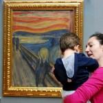 Fotos Oslo, Teo y Vero ante El grito de Edvard Munch
