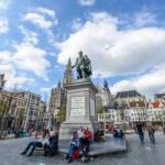 Fotos de Amberes en Flandes, estatua de Rubens