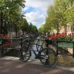 Fotos de Amsterdam, bicicletas, canales y flores