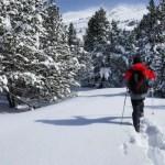Fotos de Andorra, Pau con raquetas de nieve
