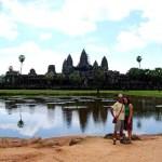 Fotos de Angkor, Pau y Vero en Angkor Wat