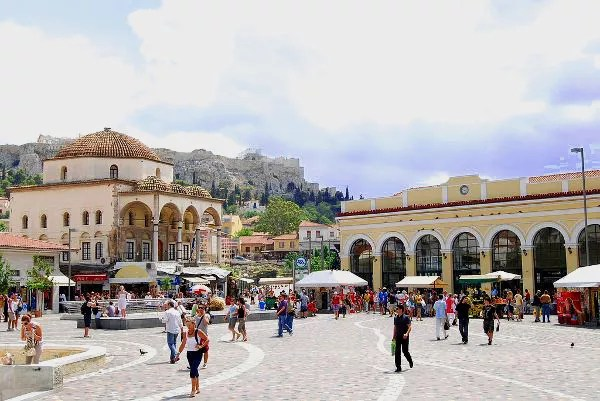 Fotos de Atenas en Grecia, Plaza de Monastiráki