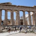 Fotos de Atenas en Grecia, gente en el Partenón