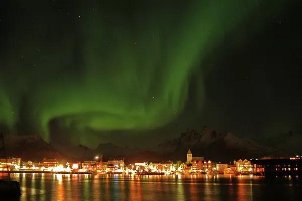 Fotos-de-Auroras-Boreales-en-Noruega-Svolvær-en-Lofoten ▷ El mejor lugar de Noruega para ver la aurora boreal